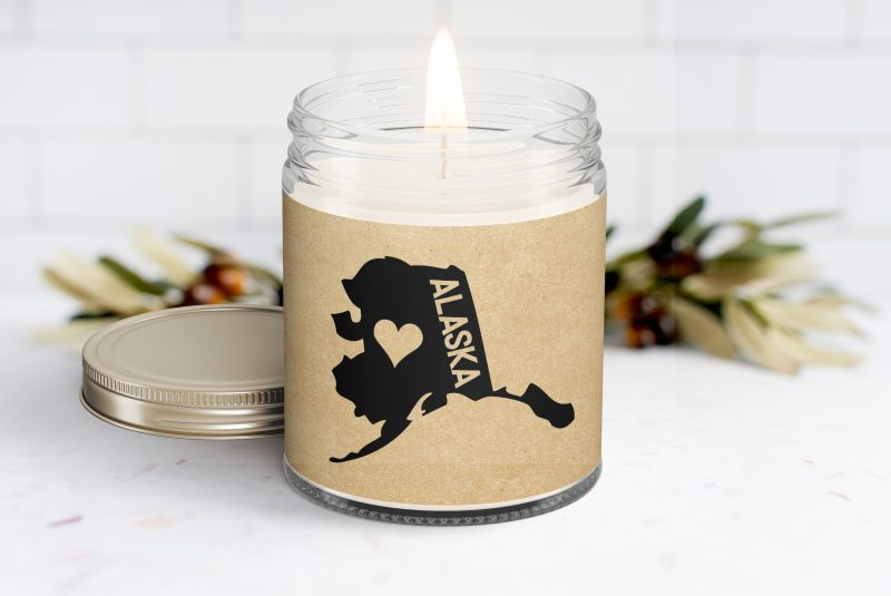 Alaska Personalized Scented Soy Candle - Homesick Gift - Moving - College Student - Missing You - Missing Home - Alaska Care Box