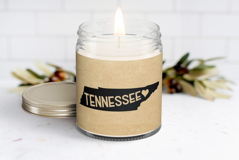 Tennessee Personalized Soy Candle - Homesick Gift - Moving - College Student - Missing You - Missing Home - Tennessee Care Box