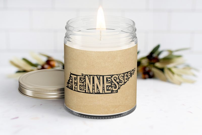Tennessee Personalized Scented Soy Candle - Homesick Gift - Moving - College Student - Missing You - Missing Home - Tennessee Care Box